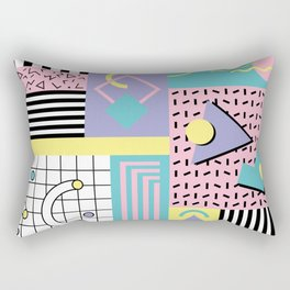 Memphis Pattern 27 - 80s - 90s Retro / 1st year anniversary design Rectangular Pillow
