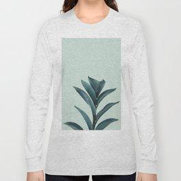 Teal Mint Plant Long Sleeve T-shirt