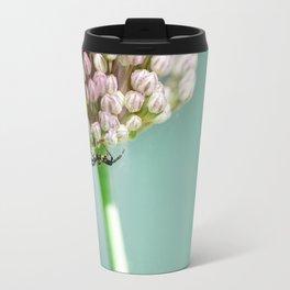 Spider in a Garlic Flower Travel Mug