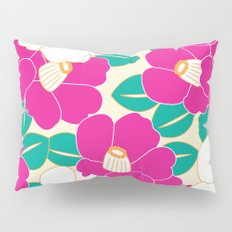 Japanese Style Camellia - Pink and White Pillow Sham