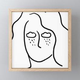rainy soul Framed Mini Art Print