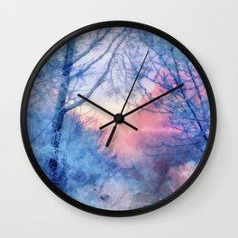 Winter evening Wall Clock