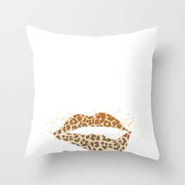 If My Mouth Doesn't Say It My Face Will Erotic Lip Throw Pillow
