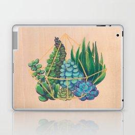 Geometric Terrarium 1 Acrylic on Wood Painting Laptop & iPad Skin