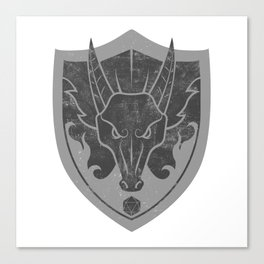 D&D Dragon Crest Canvas Print