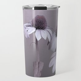 Purple Coneflowers and Dragonfly Travel Mug