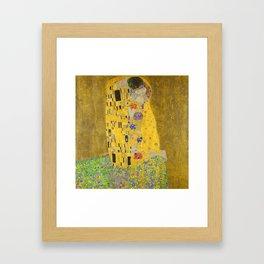 Gustav Klimt The Kiss Detail Framed Art Print