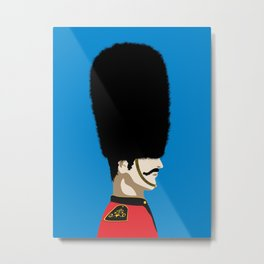 Grand mustache Beefeater Metal Print