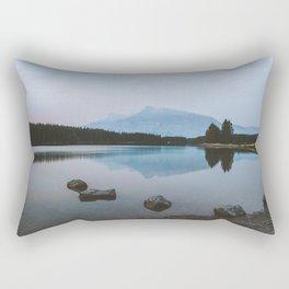 Two Jack Lake Reflection Rectangular Pillow
