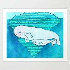 Belugas Art Print