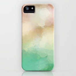 Abstract Blush Pink Green Design iPhone Case
