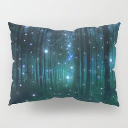 Glowing Space Woods Pillow Sham