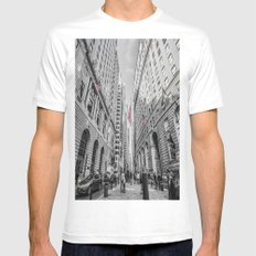 Downtown, NYC White Mens Fitted Tee MEDIUM