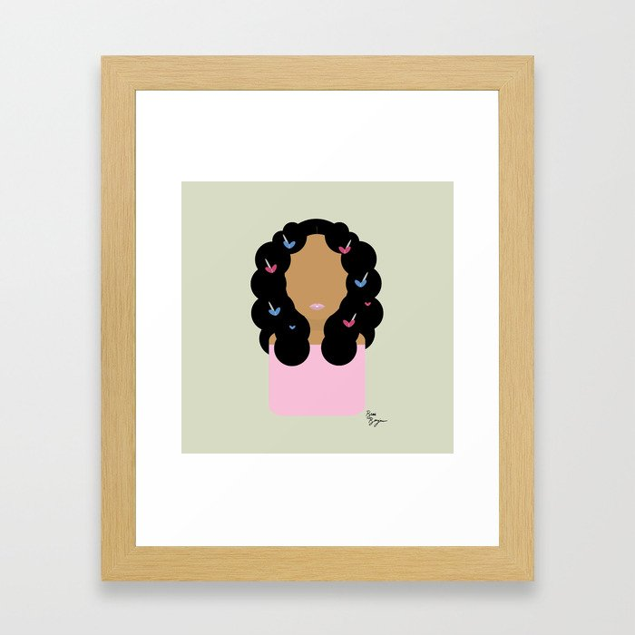 Solo // Don't Touch My Hair Framed Art Print