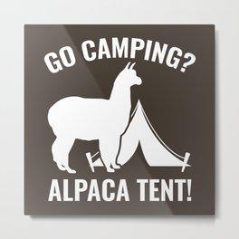 Alpaca Tent Metal Print
