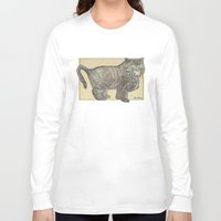 furry Long Sleeve T-shirts featuring Furry Cat by Felis Simha