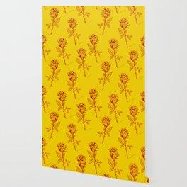 Yellow Roses pattern Wallpaper