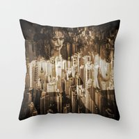 sex and the city Throw Pillows featuring Sex in the city by WDeluxe