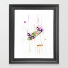 Drip Board: Cat Eyes Framed Art Print