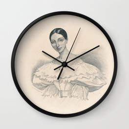 Portrait of Ballerina Wall Clock