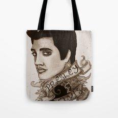 The King of Rock 'n' Roll (Elvis Presley) Tote Bag