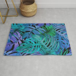 Exotic Palm Leaves 2 Rug