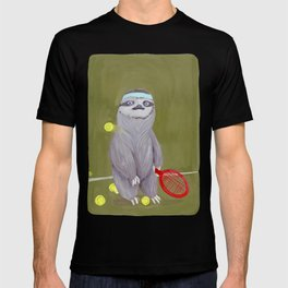 Sloths Are Bad At Things- Kevin the Tennis Star T-shirt