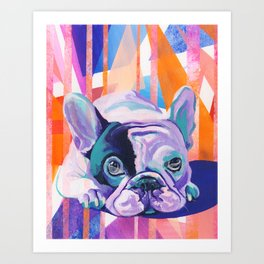 Frenchie Puppy Art Print