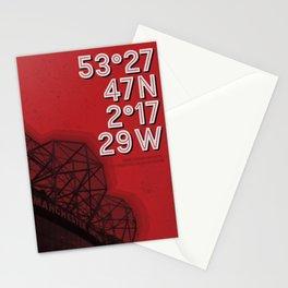 Manchester Utd, Old Trafford stadium Stationery Cards