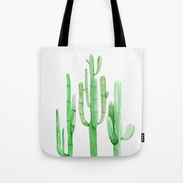 Three Amigos Cacti Green Tote Bag