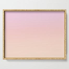 GRADIENT HORIZON - Minimal Plain Soft Mood Color Blend Prints Serving Tray
