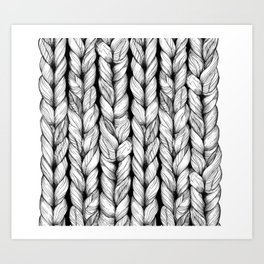 Knitted Art Print