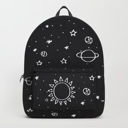 Planets Hand Drawn Backpack