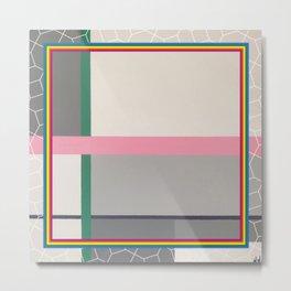 Green line - color square Metal Print
