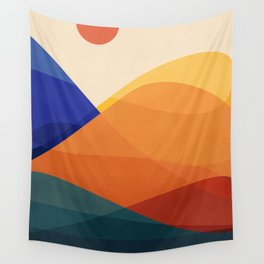 Meditative Mountains Wall Tapestry