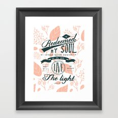 23/ 52: Job 33:28  Framed Art Print