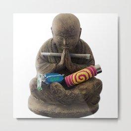 Weed's Bouddha Metal Print