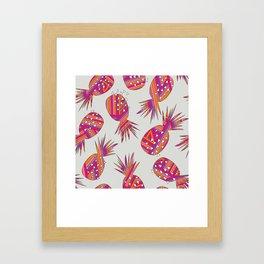 Geometric Pineapples Summer Print Framed Art Print