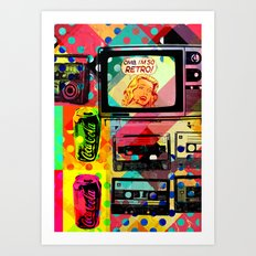 So retro Art Print