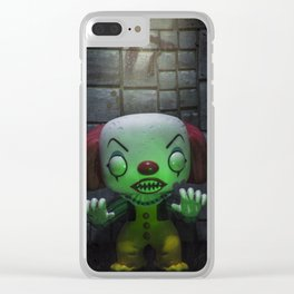 Clown Horror Clear iPhone Case