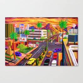 Camelback Road Sunset Phoenix Arizona Canvas Print