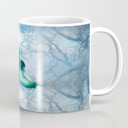 Floating Yogi in the Trees (blue) Coffee Mug