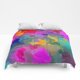 abstract floral with violet Comforters