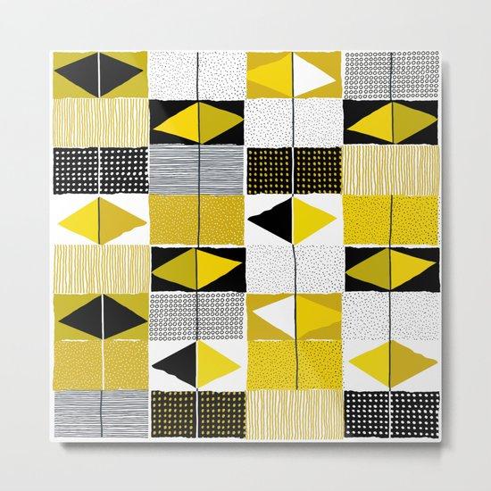 diamond pattern 034 Metal Print