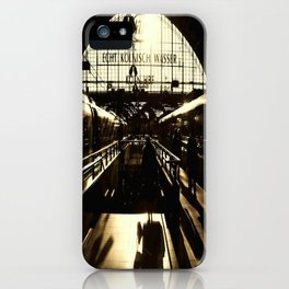 Railway Station Cologne (monochrom) iPhone Case