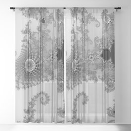 males mandelbrot abstract Sheer Curtain
