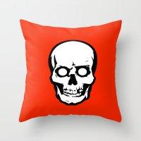 evil dead Throw Pillows featuring Evil Dead 2 - Red by Dukesman