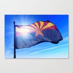 Arizona (USA) flag waving on the wind Canvas Print