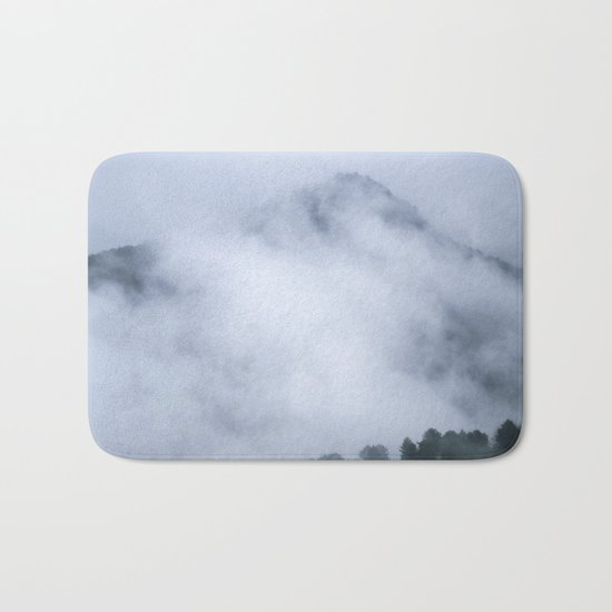 """Mistery mountains"". Retro. Foggy. Bath Mat"