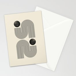 Abstract line art small circle. Lovely abstract art. Elegent home decor. Stationery Cards